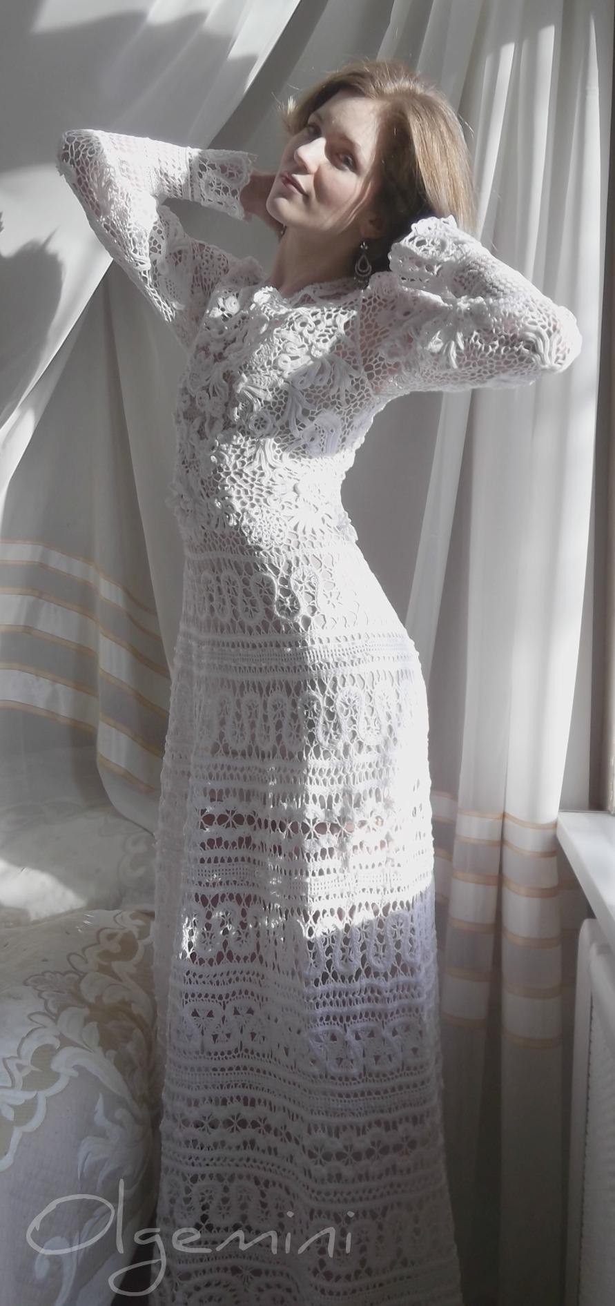 Свадебные платья крючком
